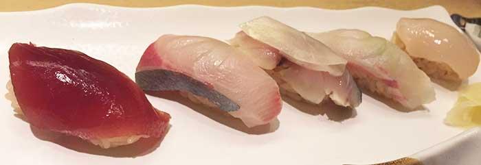 三笠屋のお寿司